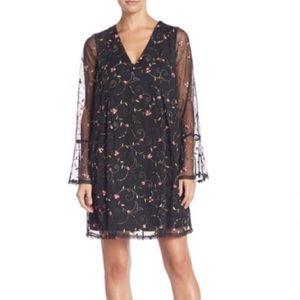 BCBGeneration Dresses - NWT BCBGENERATION Black Floral Dress Bell Sleeves